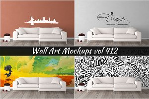 Wall Mockup - Sticker Mockup Vol 412