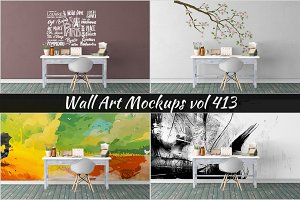 Wall Mockup - Sticker Mockup Vol 413