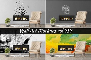 Wall Mockup - Sticker Mockup Vol 414
