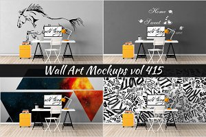 Wall Mockup - Sticker Mockup Vol 415