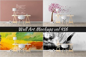 Wall Mockup - Sticker Mockup Vol 416