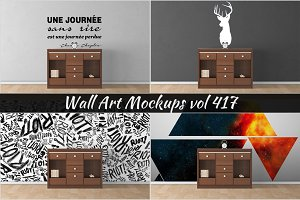 Wall Mockup - Sticker Mockup Vol 417