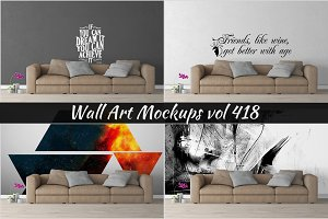 Wall Mockup - Sticker Mockup Vol 418