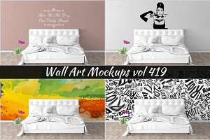 Wall Mockup - Sticker Mockup Vol 419