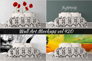 Wall Mockup - Sticker Mockup Vol 420