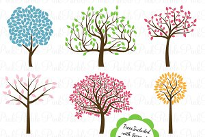 Tree Silhouettes Photoshop Brushes