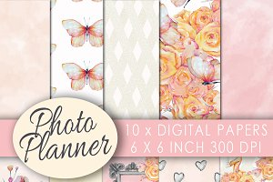 Camera digital paper watercolor