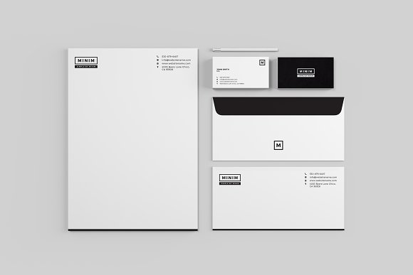Minim Simple Clean Stationery