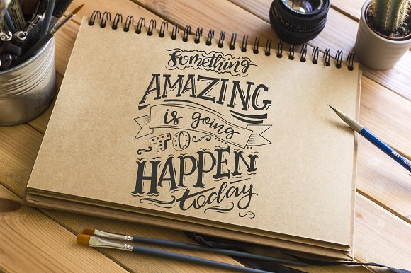 6 Hand Drawn Lettering Quotes Illustrations Creative Market