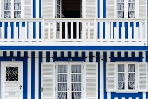 Colorful houses of Aveiro