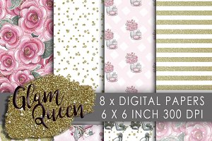 Glam Fashion Digital Paper