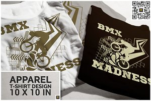BMX Madness Theme T-shirt