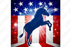 Democrat Donkey Political Mascot
