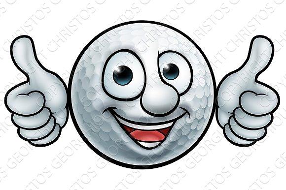 Golf Ball Mascot