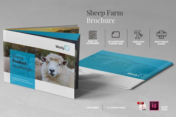 sheep farm brochure a5 brochure templates creative market