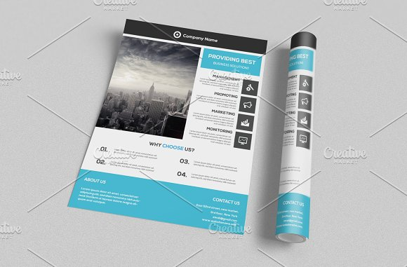 Corporate Flyer Template in Flyer Templates