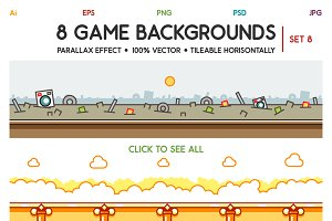8 Game Backgrounds Set 8