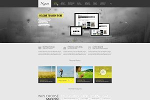 Maxon - Creative PSD Template