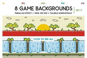 8 Game Backgrounds Set 9