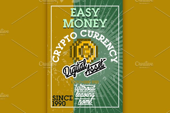 Color Vintage Cryptocurrency Banner