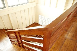 Wooden staircase old