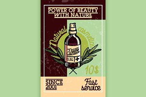 vintage natural cosmetics banner