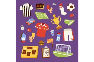 Soccer icons vector illustration.