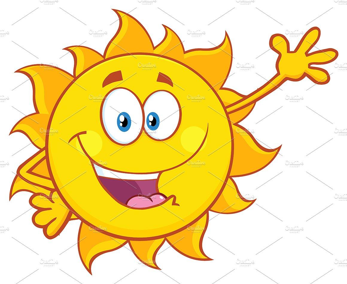 Smiling Sun Waving For Greeting ~ Illustrations ~ Creative ...