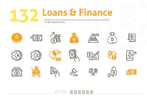 Loans & Finance Premium Vector Icons