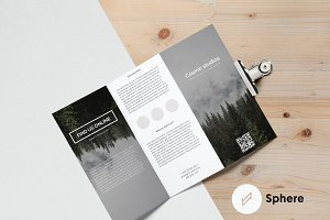 Cosmic Trifold Brochure Template