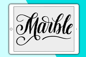 Marble Procreate lettering brush