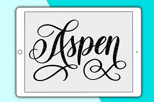 Aspen Procreate lettering brush