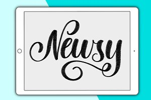 Newsy lettering brush for Procreate