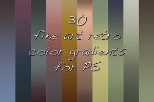 30 fine art retro color PS gradients