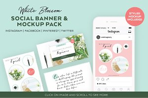 White Blossom Social Template Pack