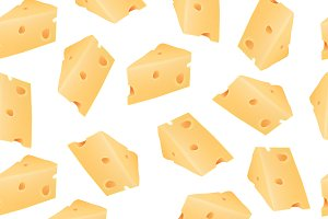 Cheese pattern including seamless