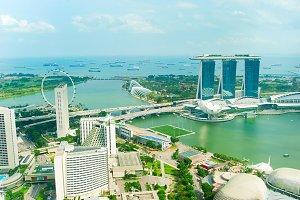 Singapore bay skyline