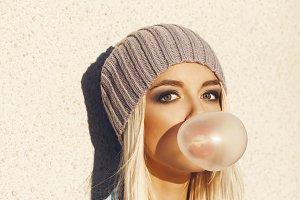 Blow bubblegum
