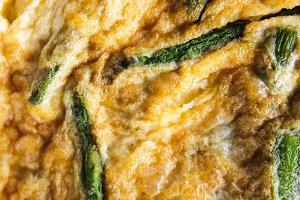 Asparagus Omelet Detail