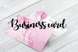 Feminine Business card design