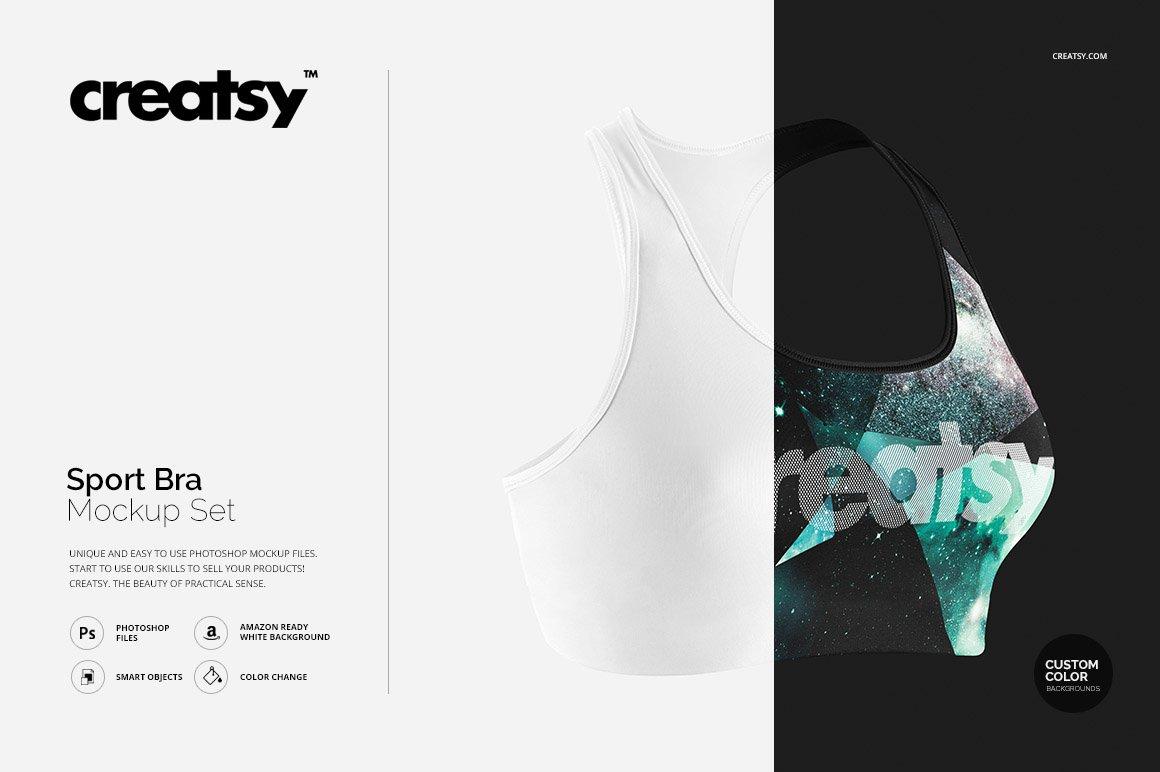 f0197c5861e4e Sport Bra Mockup Set ~ Product Mockups ~ Creative Market