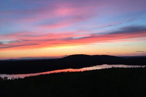 Sunset at Jordan Pond