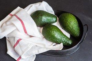 Organic food concept with avocado