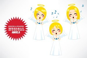 Singing & Playing Musical Angels
