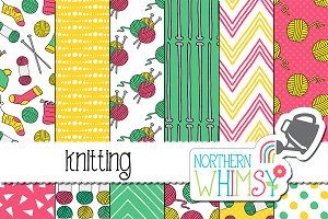 Craft Seamless Patterns - Knitting