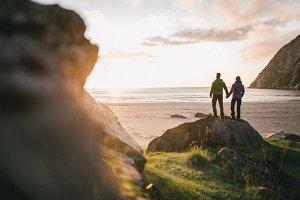 A Couple on a wild beach