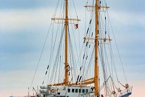 White sailing ship