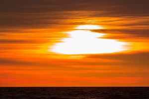 Golden sunset at Baltic sea