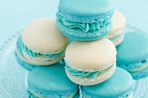 Light blue macarons