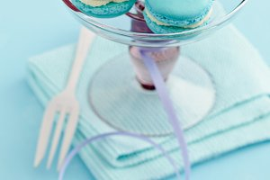 Light blue macarons